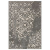 Loloi Rugs Emory Distressed Damask 2-Foot 4-Inch x 7-Foot 7-Inch Runner in Charcoal/Ivory