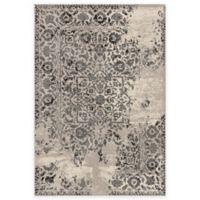 Loloi Rugs Emory Distressed Damask 2-Foot 4-Inch x 7-Foot 7-Inch Runner in Ivory/Charcoal