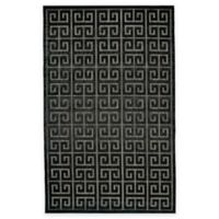 Feizy Tahla II 2-Foot 1-Inch x 4-Foot Accent Rug in Black/Charcoal