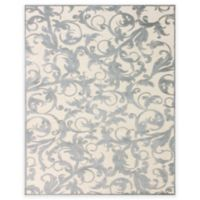 Feizy Penelope 2-Foot 2-Inch x 4-Foot Accent Rug in Cream/Silver