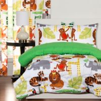 Crayola® Jungle Love 2-Piece Reversible Twin Comforter Set