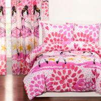 Crayola® Twinkle Toes Reversible 2-Piece Twin Comforter Set in Pink