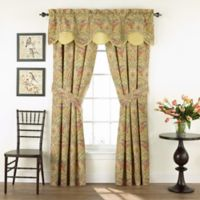 Waverly® Swept Away Rod Pocket Window Curtain Valance in Berry