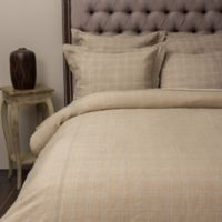 Amity Home Zachery Linen King Duvet Cover in Khaki