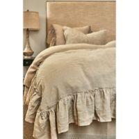 Amity Home Karina Ruffled Linen Queen Duvet Cover in Natural