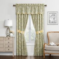 Waverly Paisley Verveine 84-inch Window Curtain Panel Pair in Spring