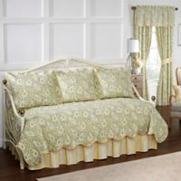 Waverly Paisley Verveine Reversible Daybed Quilt Set in Spring