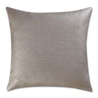 Vince Camuto® Lille Metallic Woven Square Throw Pillow in Taupe