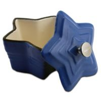 BergHOFF® Cast Iron 8 oz. Star Covered Mini Casserole in Blue