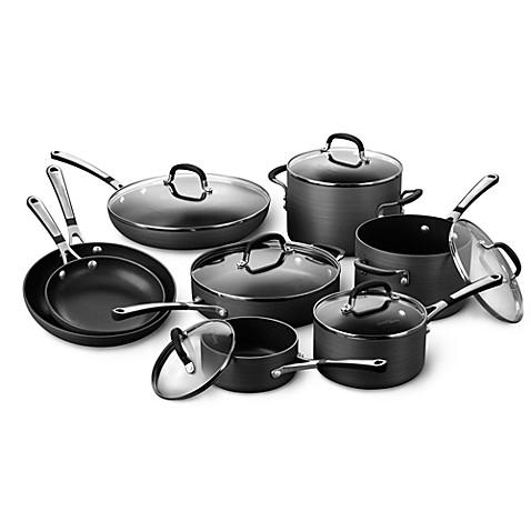 Simply Calphalon 174 Nonstick 14 Piece Cookware Set And Open