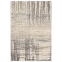 Loloi Rugs Emory Hatch 3-Foot 10-Inch x 5-Foot 7-Inch Area Rug in Ivory/Grey
