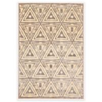 Feizy Penelope 2-Foot 2-Inch x 4-Foot Accent Rug in Cream/Grey