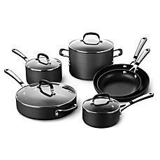 Calphalon Pc Commercial Nonstick Hard Anodized Kitchen Cookware Set New