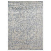Loloi Rugs Florence Damask Border 2-Foot 7-Inch x 4-Foot Accent Rug in Light Blue/Ivory