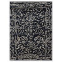 Loloi Rugs Florence Damask Border 6-Foot 7-Inch x 9-Foot 2-Inch Area Rug in Black/Ivory