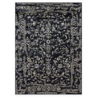 Loloi Rugs Florence Damask Border 7-Foot 10-Inch x 10-Foot 10-Inch Area Rug in Black/Ivory