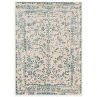 Loloi Rugs Florence Damask Border 2-Foot 7-Inch x 8-Foot Runner in Ivory/Blue