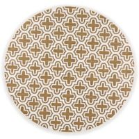 Feizy Tahla II 7-Foot 6-Inch x 7-Foot 6-Inch Round In Tan/Cotton