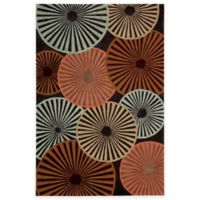 Nourison Contour Spiral 7-Foot 3-Inch x 9-Foot 3-Inch Multicolor Area Rug