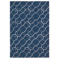 Nourison Contour Tile 3-Foot 6-Inch x 5-Foot 6-Inch Area Rug in Denim