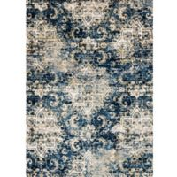 Loloi Rugs Torrance Medallions 2-Foot 7-Inch x 4-Foot Accent Rug in Navy/Ivory