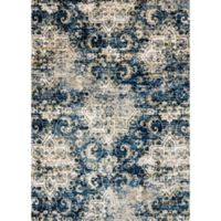 Loloi Rugs Torrance Medallions 6-Foot 7-Inch x 9-Foot 2-Inch Area Rug in Navy/Ivory