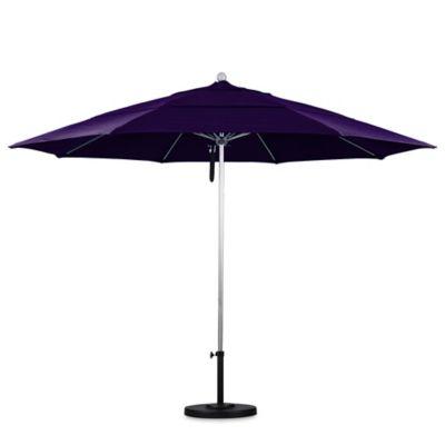 California Umbrella 11 Foot Double Vent Market Umbrella With Silver Pole In  Purple