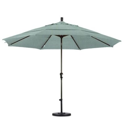 California Umbrella 11 Foot Auto Tilt Market Umbrella With Bronze Pole In  Spa