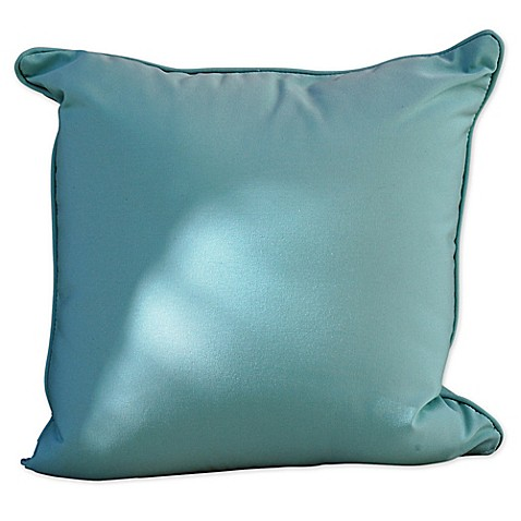 Outdoor Throw Pillows For Patio Furniture : Somers Furniture Sunbrella Glacier Square Outdoor Throw Pillow - Bed Bath & Beyond