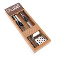 Grilllight™ 2-Piece BBQ Tool Set with LED Flashlight