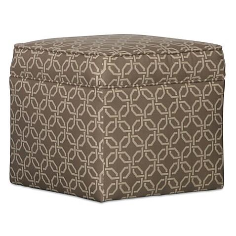 Somers Furniture Cool, Calm, Composed 24 Inch Square Storage Ottoman In  Sunbrella®