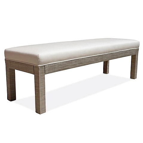 Somers Furniture HGTV Outdoor Parsons Bench In Oyster