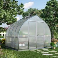 Palram Bella Hobby 8-Foot x 8-Foot Greenhouse in Silver