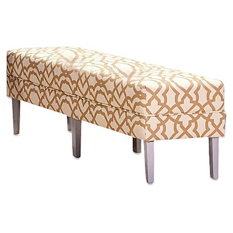 Somers Furniture Serene Luxury Outdoor 3 Seat Bench With Rattan Print