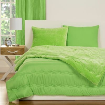 CrayolaR Playful Plush 2 Piece Twin Comforter Set In Green