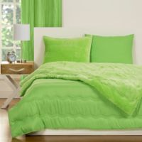 Crayola® Playful Plush 2-Piece Twin Comforter Set in Green