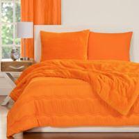 Crayola® Playful Plush 2-Piece Twin Comforter Set in Orange