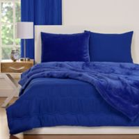Crayola® Playful Plush 3-Piece Full/Queen Comforter Set in Blue