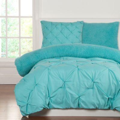 Buy Reversible Full Queen Comforter Set In Teal From Bed