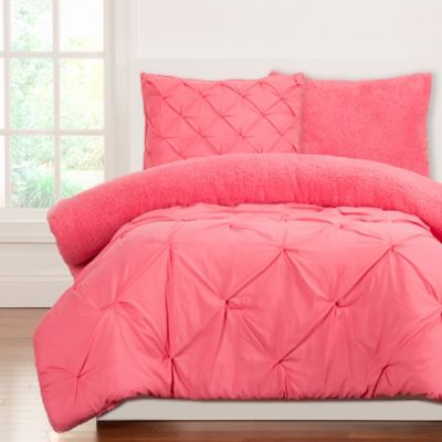 CrayolaR Playful Plush 3 Piece Full Queen Comforter Set In Pink