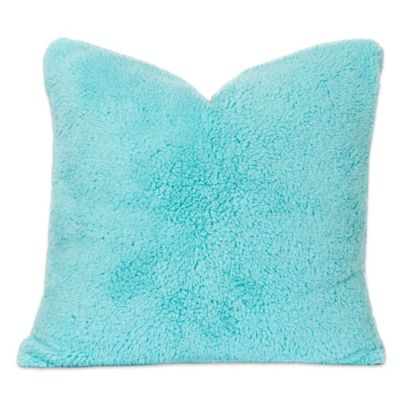 Crayola Playful Plush 16 Inch Square Throw Pillow In Teal
