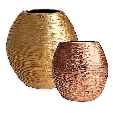 Simplydesignz Metallic Vase Bed Bath Beyond