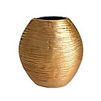 Simplydesignz 9-Inch Metallic Vase in Gold