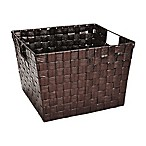 Large Woven Polypropylene Basket in Bronze