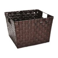 Large Woven Polypropylene Basket in Bronze