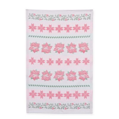 Mierco Collection Holiday Tea Towel in Red