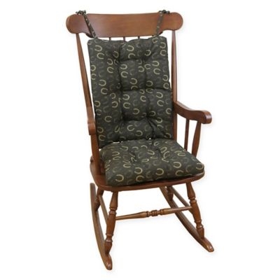 Klear Vu Horseshoe Universal XL Rocking Chair Pad Set In Brown
