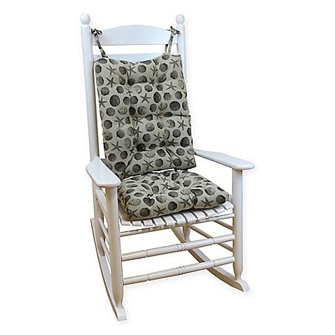 Klear Vu Seashell Universal Xl Rocking Chair Pad Set In