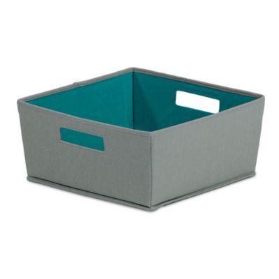Buy decorative storage bins from bed bath beyond for Dark grey bathroom bin