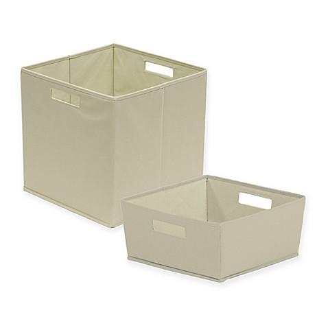 B in fabric storage bin in light grey bed bath beyond for Grey bathroom bin
